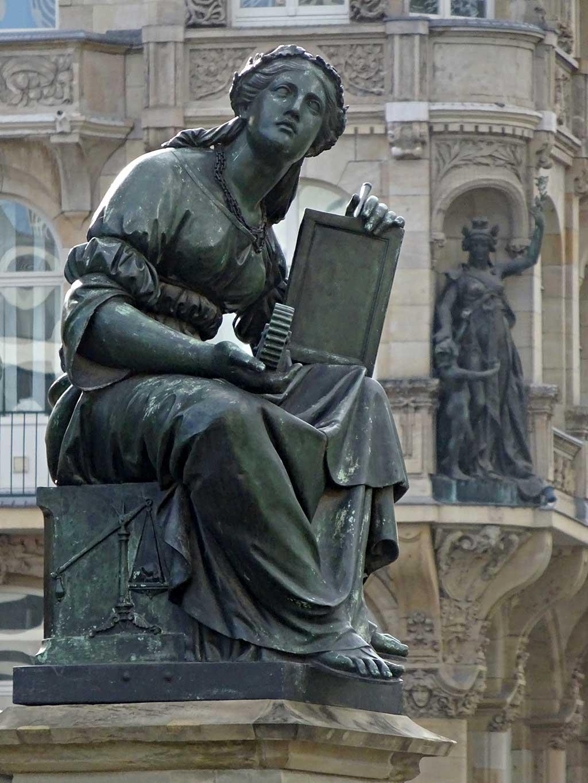 Stadtbilder Frankfurt - Gutenberg-Denkmal am Roßmarkt in Frankfurt