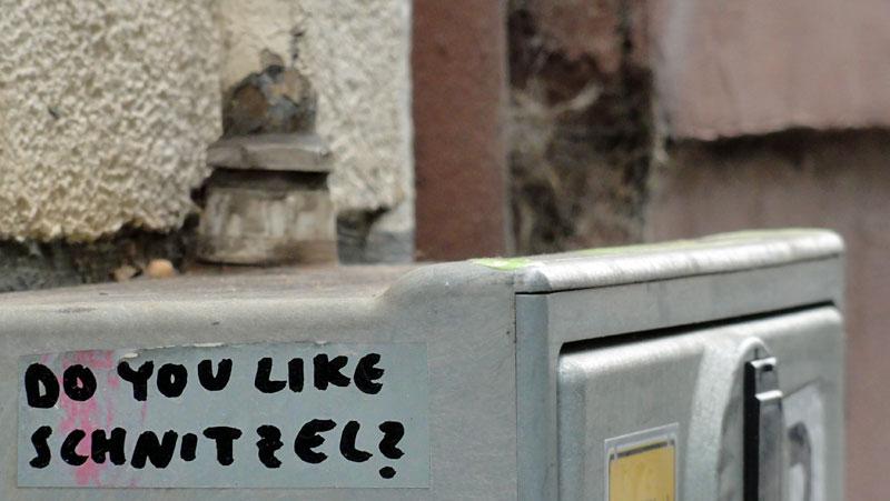 Textbasierte Streetart