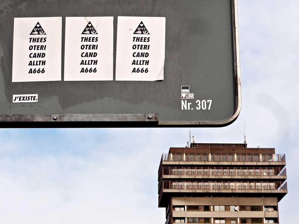 Streetart in Frankfurt von Thierry Jaspart: The Esoteric And All That 666