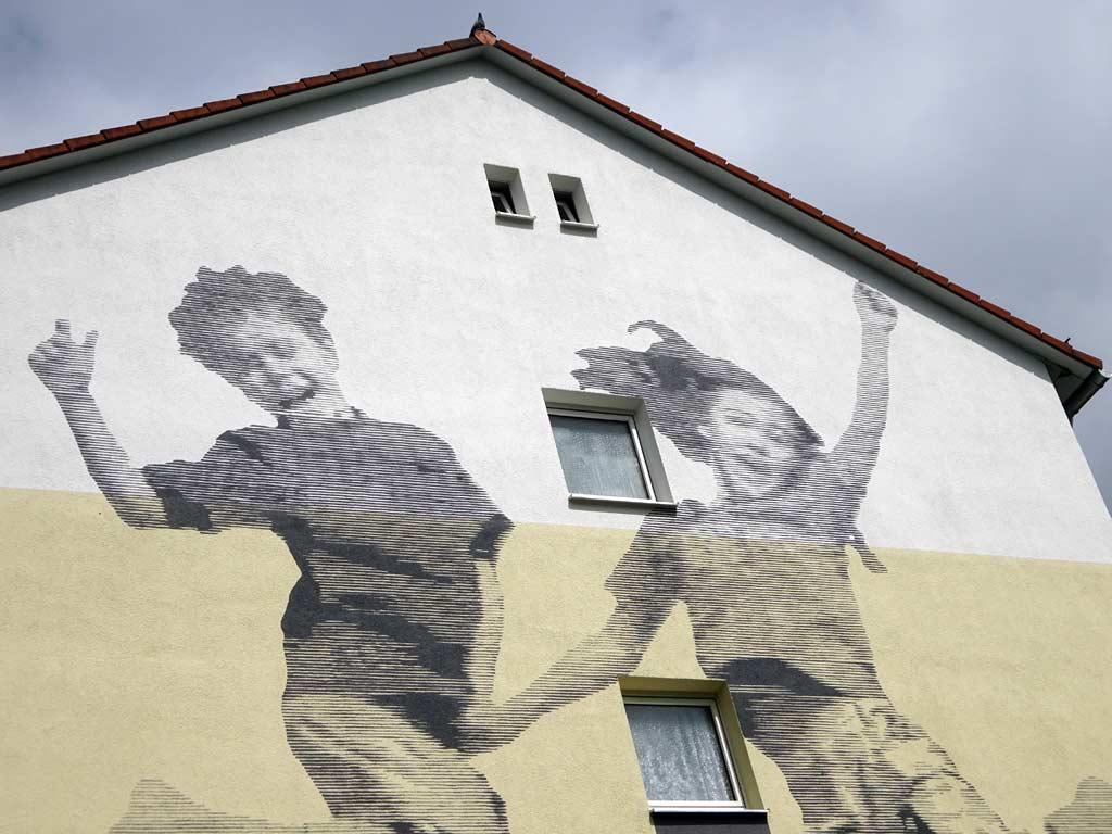 Hauswandgestaltung von Thomas Stolz in Frankfurt Fechenheim