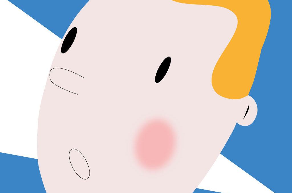 Grafik von Tim aus dem Comic Tim und Struppi