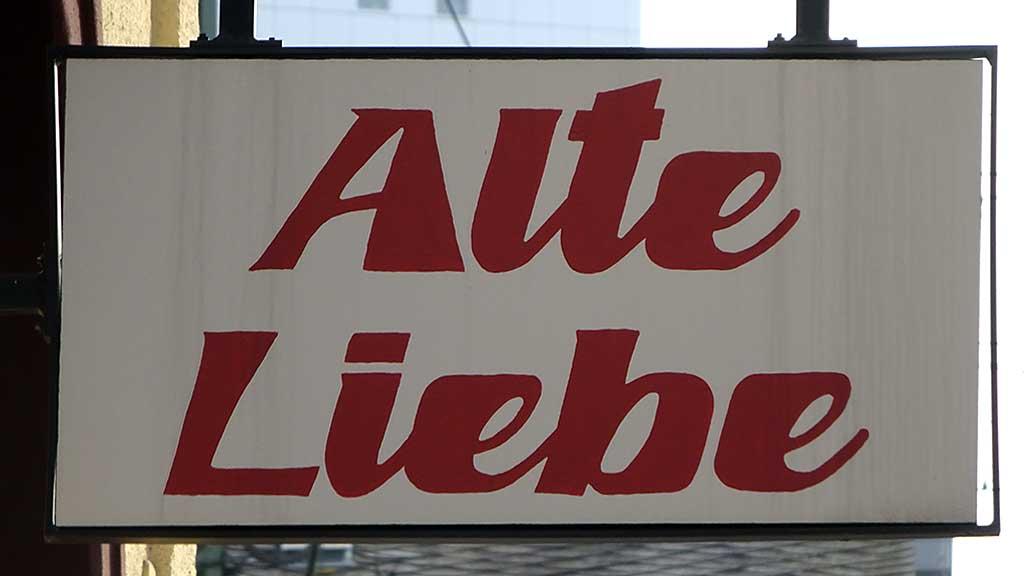 Typografie in Frankfurt - Alte Liebe
