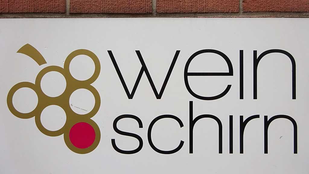 Typografie in Frankfurt - Wein Schirn
