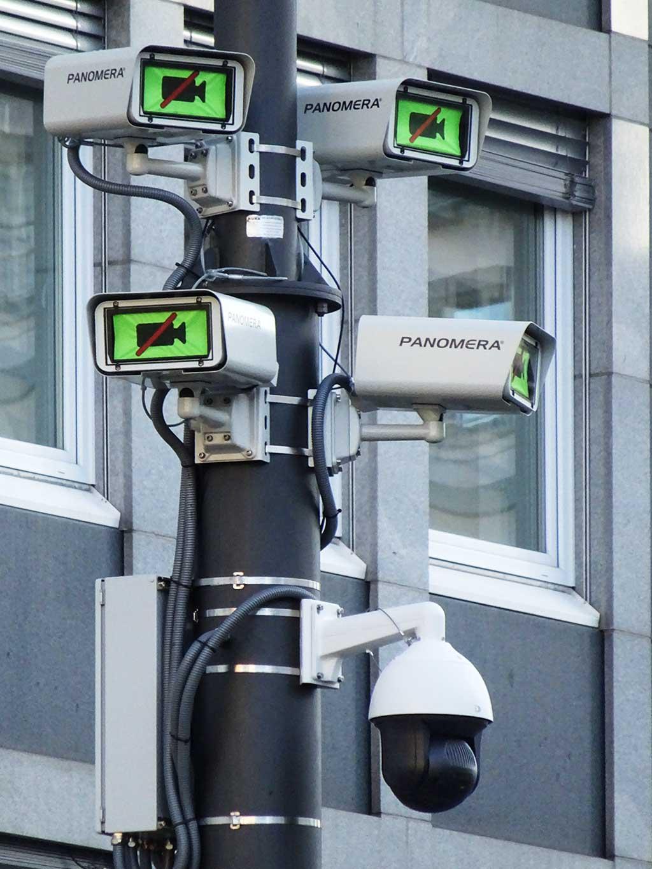Videoüberwachungsanlage an der Hauptwache in Frankfurt am Main