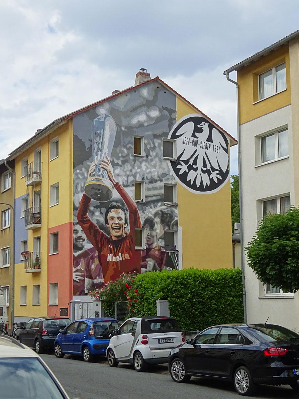 Mural Art in Frankfurt Bockenheim - UEFA CUP SIEGER 1980