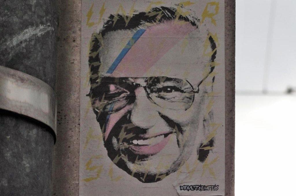Unser David Bowie heisst Heinz Schenk - Aufkleber in Frankfurt