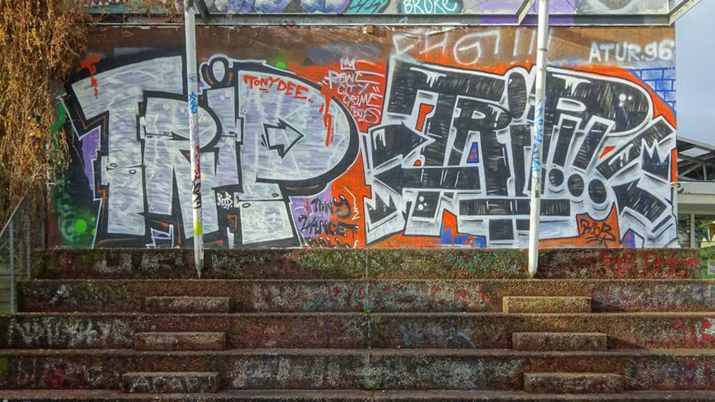 Urban Art beim Jugendhaus und Mädchentreff Am Bügel in Frankfurt