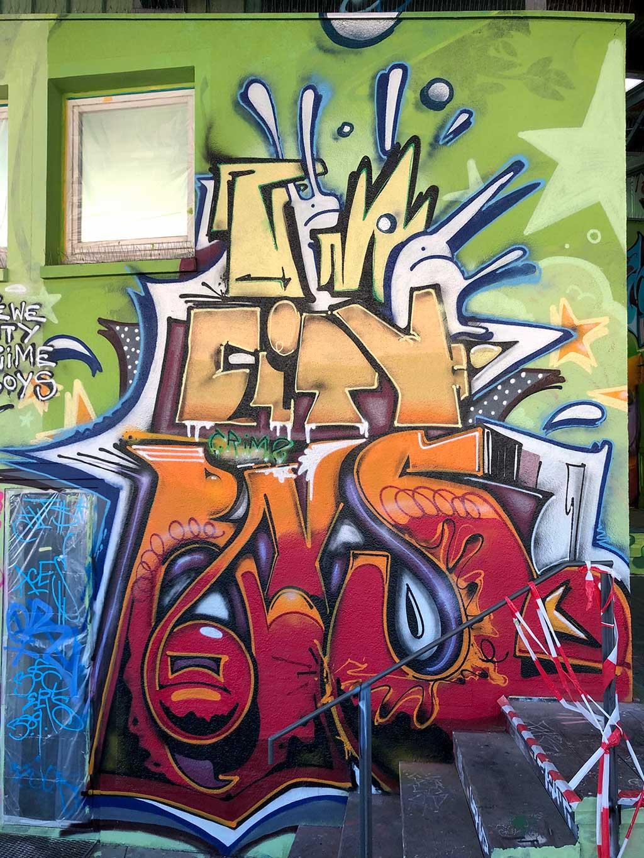 Urban Art beim Jugendhaus und Mädchentreff am Bügel