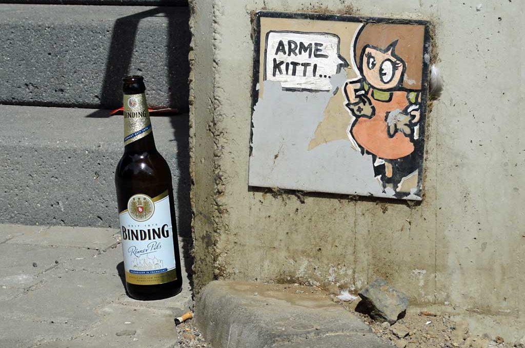 Fliese mit Motiv des Street Art Künstlers El Bocho