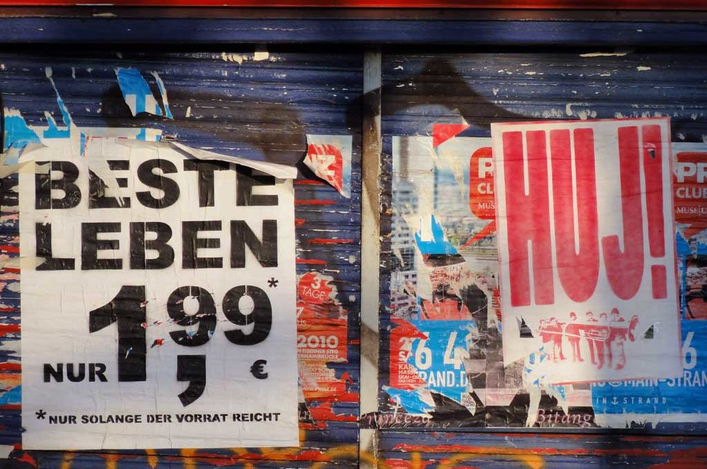 Plakate in der Street-Art