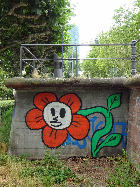 Blumen-Graffiti