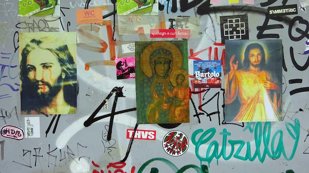 Jesus-Bilder in Frankfurt