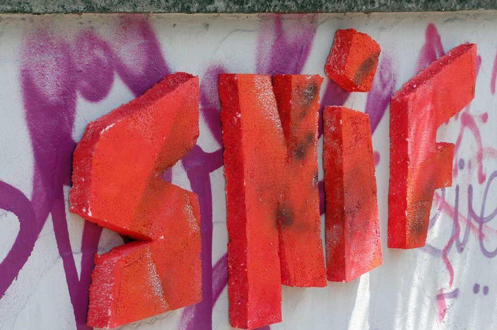 Street-Art mit Styopor von SNIF
