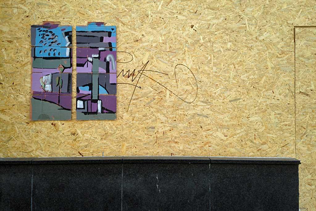 Cardboard-Streetart Treppe 1.OG