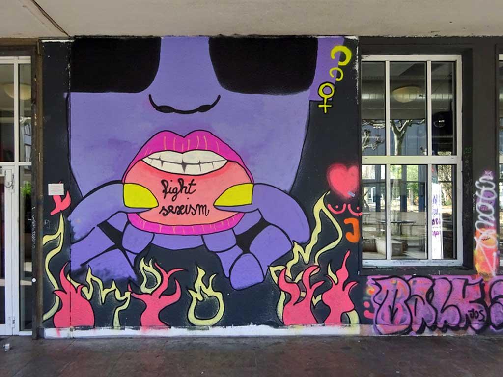 Fight Sexism Mural am Café KoZ