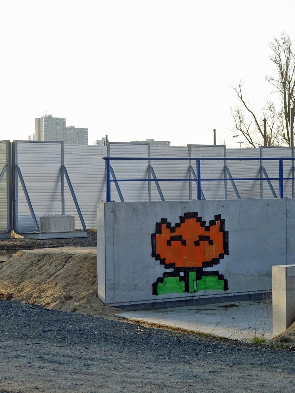 Streetart Fire Flower / Feuerblume
