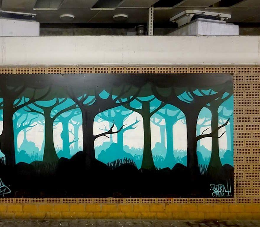 Urban-Art-Gallery im Hafentunnel in Frankfurt am Main