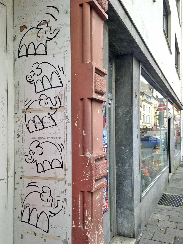 Streetart-Elefanten in Offenbach