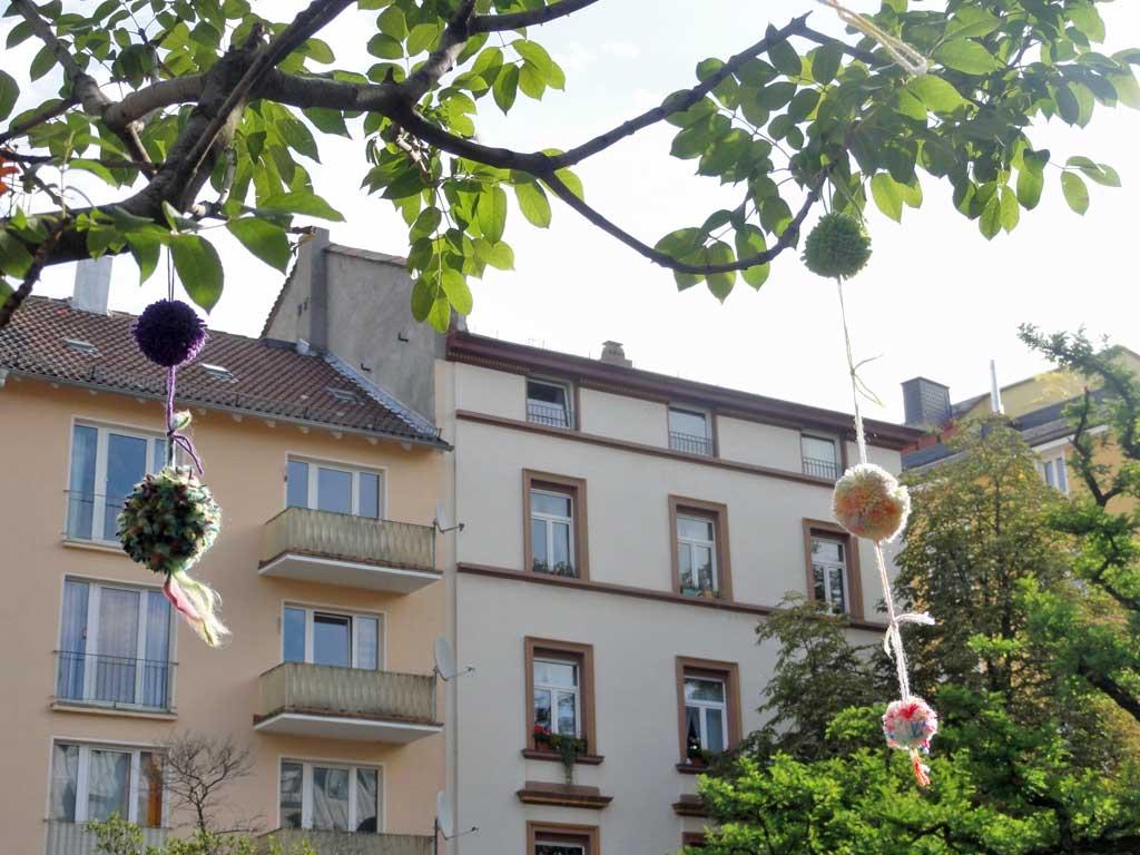 Urban Knitting am Merianplatz