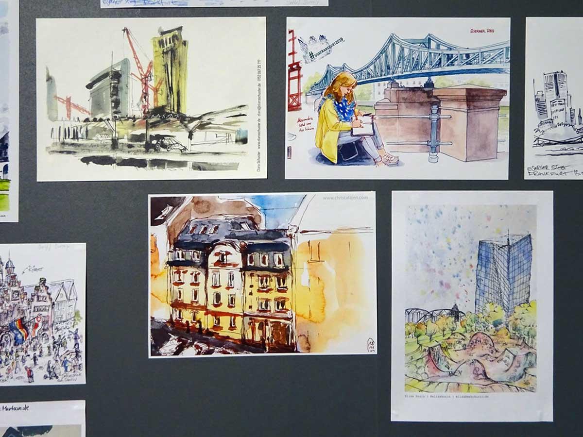 Urban Sketching - Frankfurt illustriert