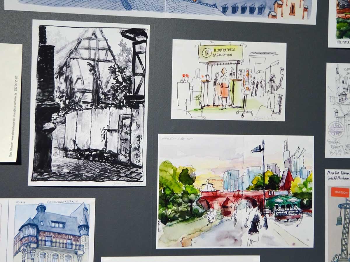 Urban Sketching Aktion auf der Frankfurter Buchmesse