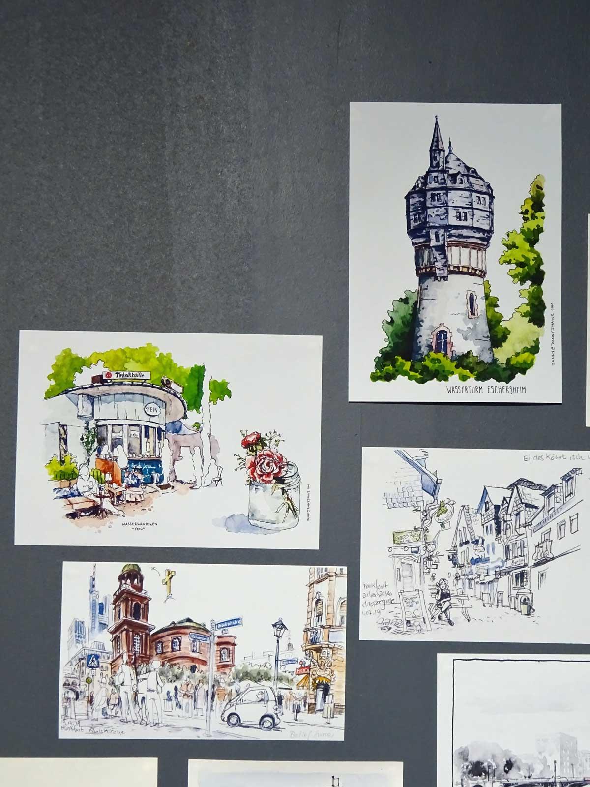 Frankfurt illustriert - Urban Sketching auf der Frankfurter Buchmesse