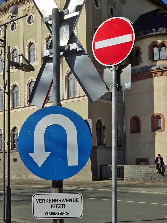 Verkehrswende jetzt Verkehrschild