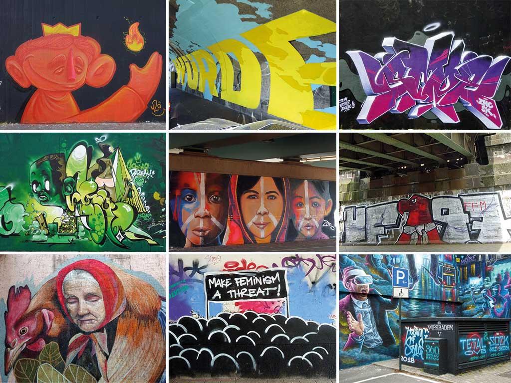 Videos zu Streetart und Graffiti in Frankfurt, Offenbach und Wiesbaden