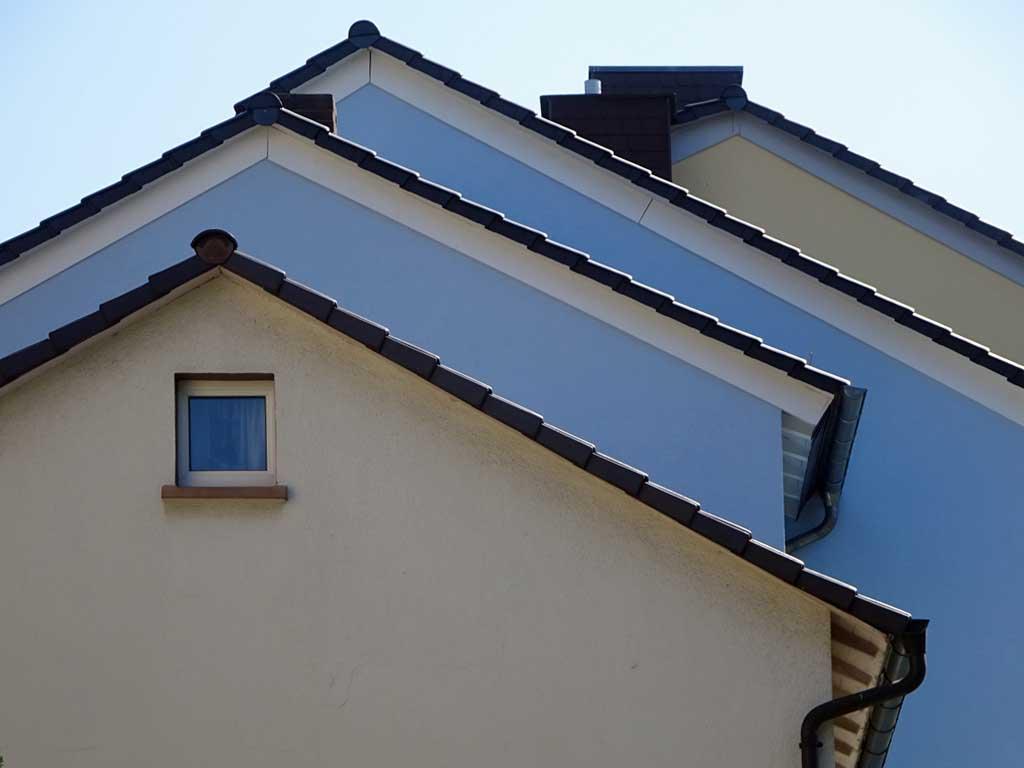 Häuserdächer in Frankfurt-Sachsenhausen