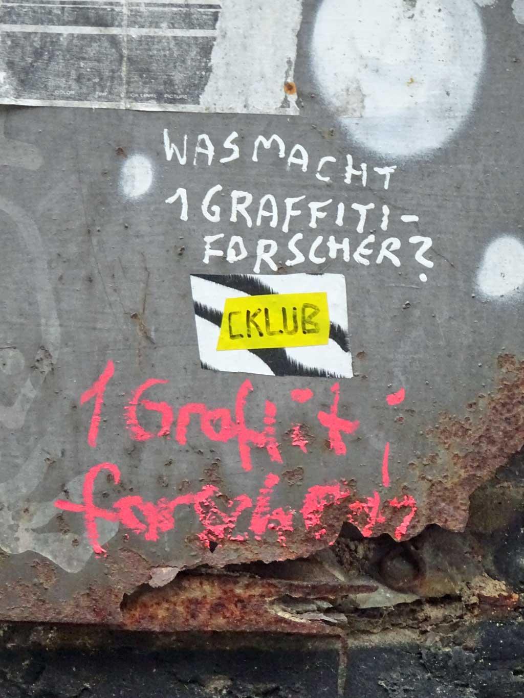 Was macht ein Graffitiforscher?