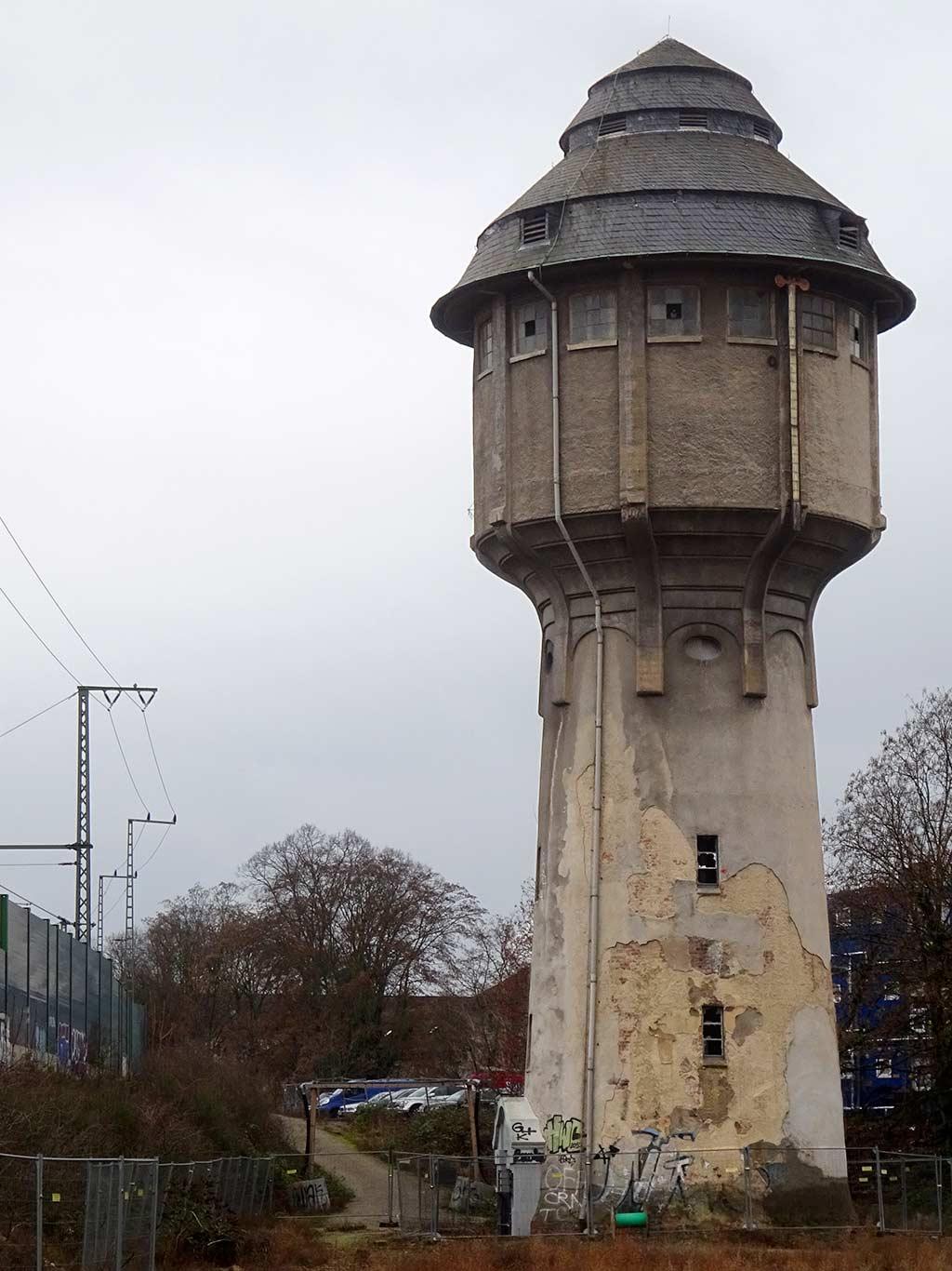 Wasserturm im Gallus in Frankfurt
