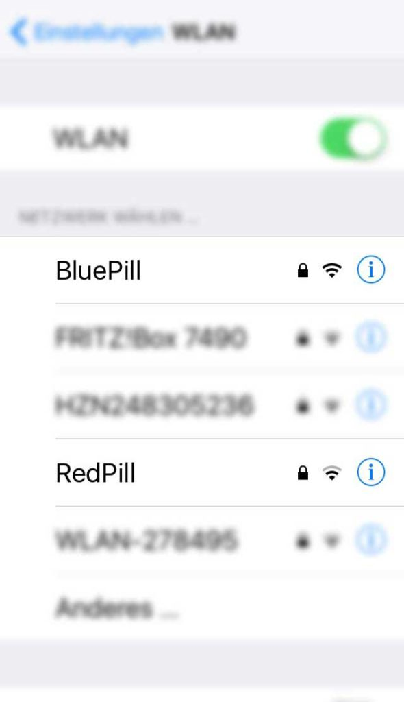 WLAN-Name in Frankfurt - Blue pill, red pill