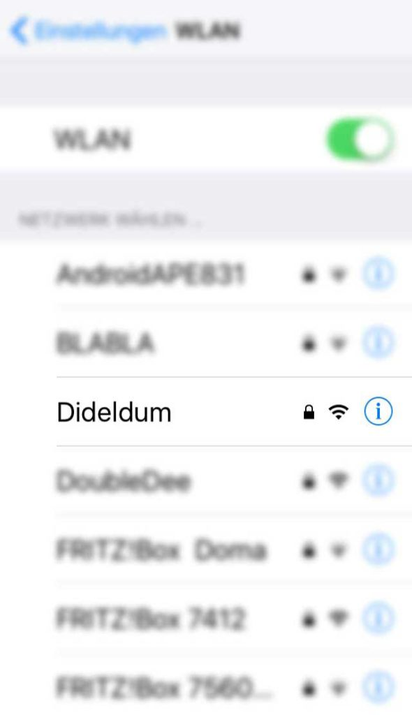 WLAN-Name in Frankfurt - Dideldum