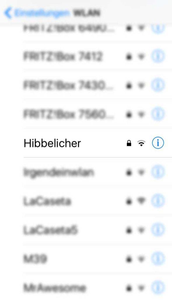 WLAN-Namen in Frankfurt - Hibbelicher