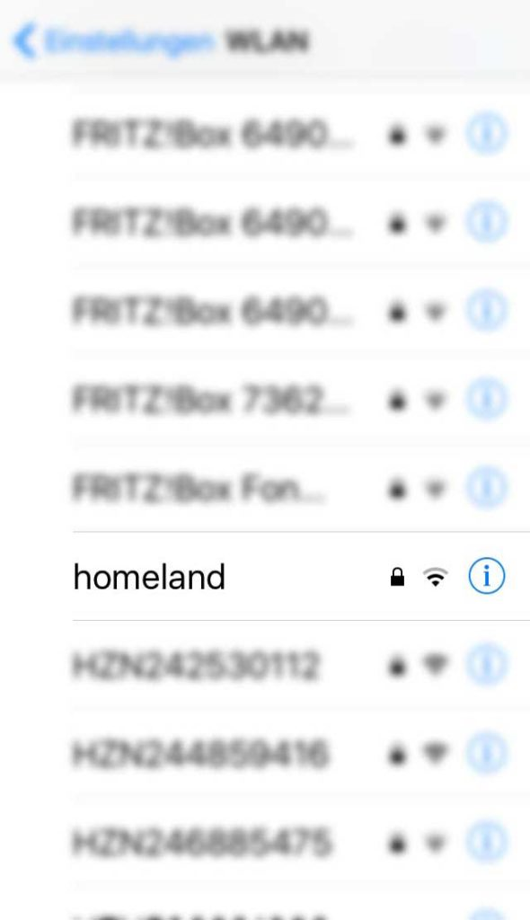 WLAN-Name in Frankfurt - Homeland