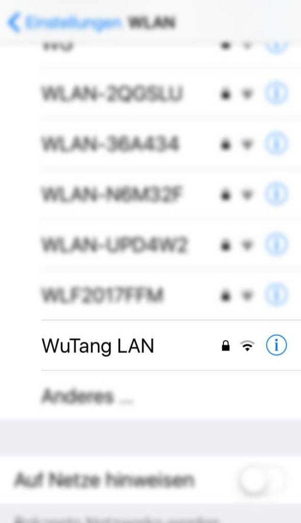 WLAN-Name in Frankfurt - Wu-Tang LAN