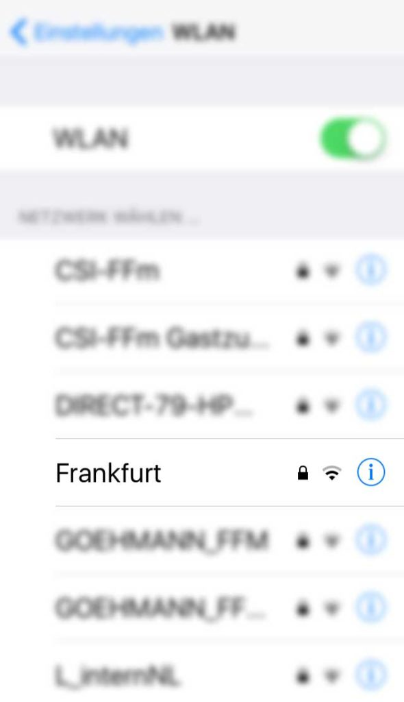 WLAN-Namen in Frankfurt - Frankfurt