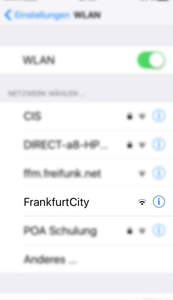 WLAN-Namen in Frankfurt - Frankfurt City