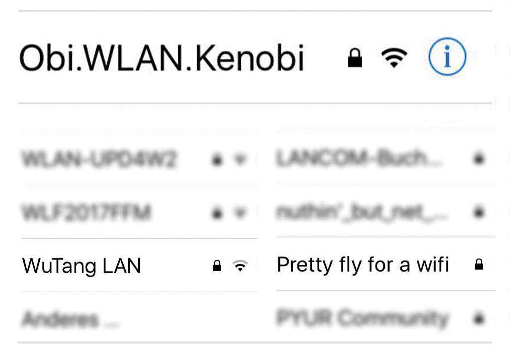 WLAN-Namen in Frankfurt