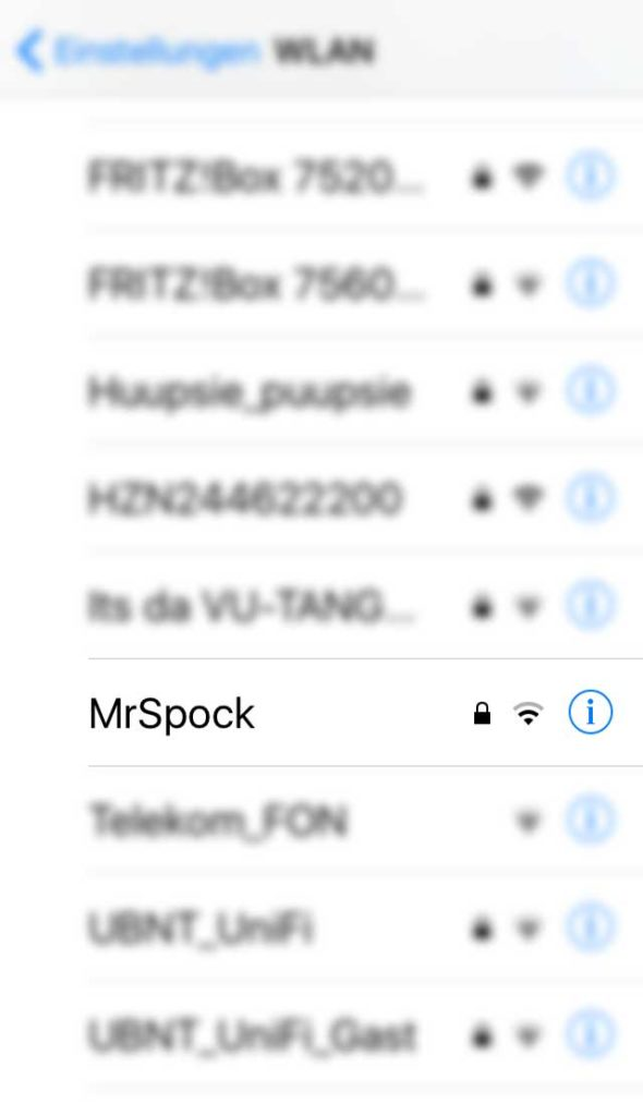 WLAN-Namen in Frankfurt - Mr. Spock