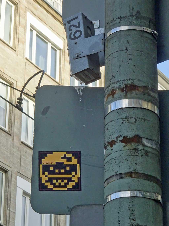 Wolf Pixelgesicht Aufkleber