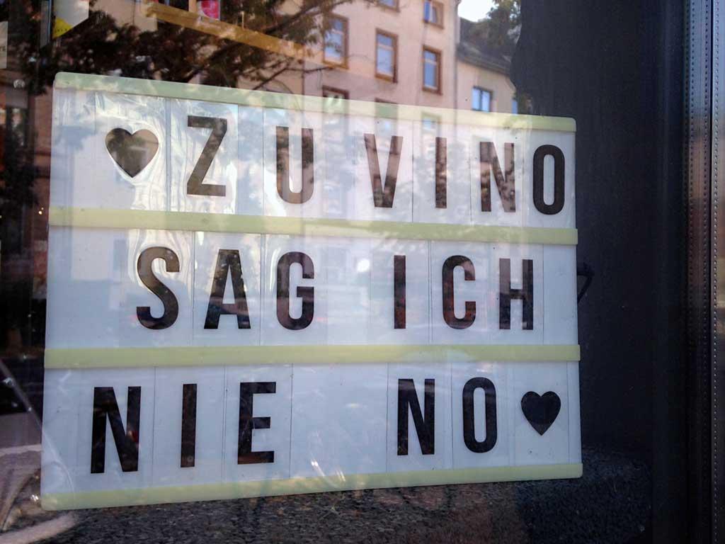 Zu Vino sag ich nie No
